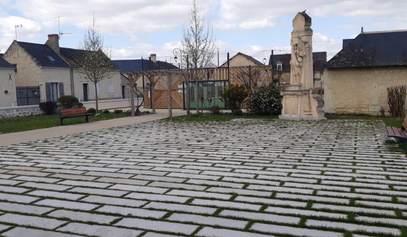 Dalles 100×30 aspect pierre Sciée complet