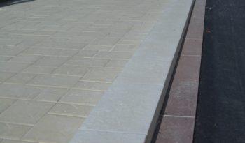 Bordure 50×25 L100 pierre sciée complet