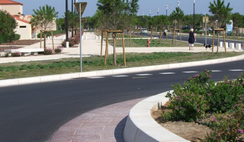 Bordure rond-point R8,6m complet